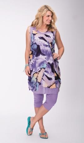 3-0312 Violetu toņu tunikkleita