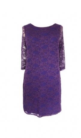 3-0041 Violetas krāsas mežģīņu kleita
