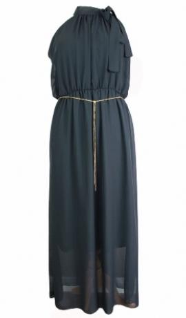 3-0164 Melna kleita ar ķēdīti