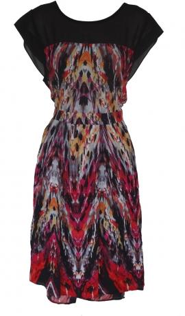 3-0171 Daudzkrāsaina kleita