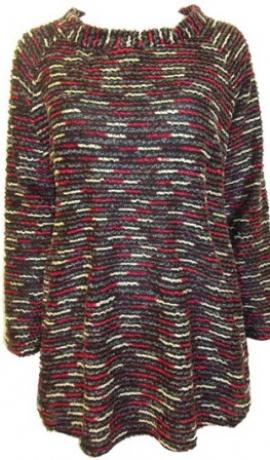 2-0166 Melns & sarkans džemperis