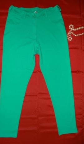 5-0223 Zaļas auduma bikses