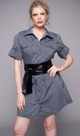 1-0242 Garš pelēks krekls