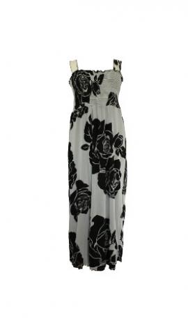 3-0058 gara kleita ar melniem ziediem