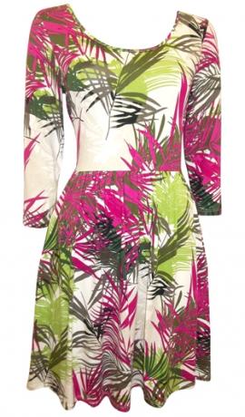 3-0337 Palmu lapu apdrukas kleita