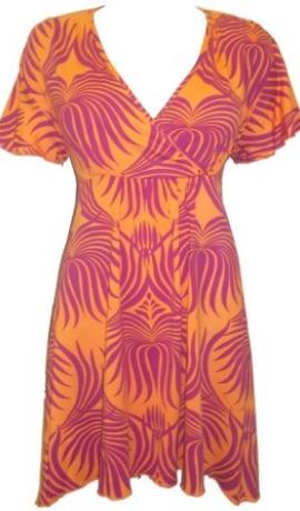 3-0035 Aizmugurē sasienama koša tūnik-kleita