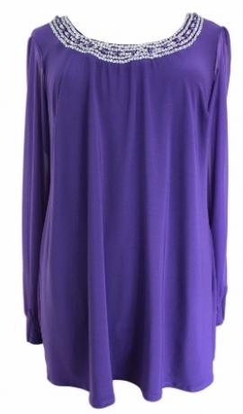 1-0370 Violeta tunika ar izšuvumiem