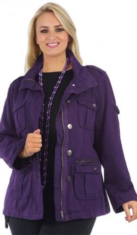 6-0030 Violeta jaka ar rāvējslēdzēju