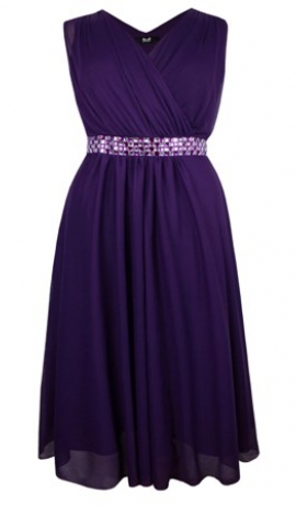 3-0392 Violeta svētku kleita ar spīdumiem