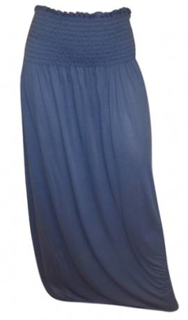 3-0198 Debess zila maxi kleita/svārki