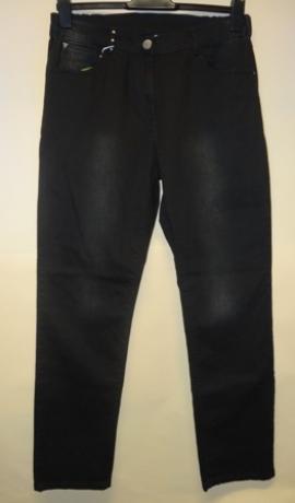 5-0200 Melni džinsi ar balinājumiem