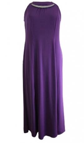 3-0208 Lillā grieķu stila maxi kleita