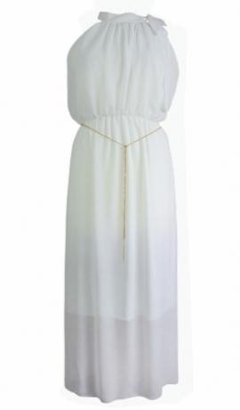 3-0168 Balta kleita ar ķēdīti