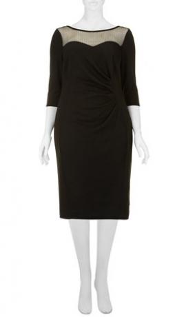 3-0255 Melna kleita ar pusgarām piedurknēm