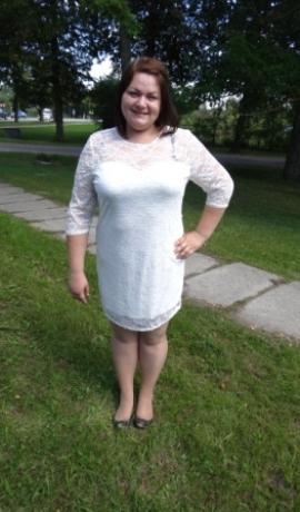 3-0205 Balta mežģīņu kleita