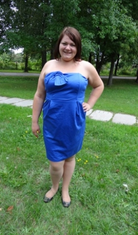 3-0183 Zila kleita bez lencītēm