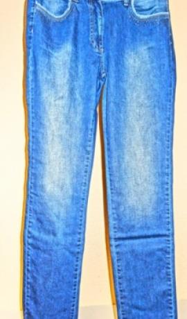 5-0264 Zili džinsi ar balinājumu