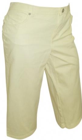 5-0159 Dzeltenas pusgaras džinsu bikses