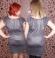 3-0031 Metāliska izskata kleita ar tauriņveida piedurknēm