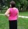 1-0557 Rozā krāsas tops ar īsām rokām