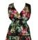 3-0073 Melna maxi kleita ar rožu apdruku
