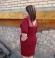 3-0256 Sarkana kleita ar pusgarām piedurknēm