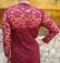 3-0343 Bordo krāsas mežģīņu kleita
