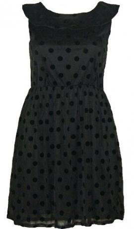 3-0091 Melna kleita ar pumpiņām