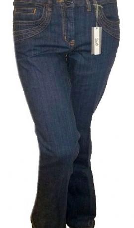 5-0128 Tumši zili džinsi ar kabatām