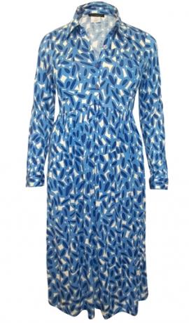3-0332 Zila kreklveida kleita