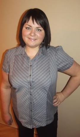 1-0494 Pelēks svītrains krekls