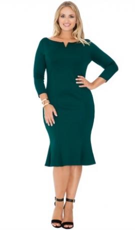 3-0359 Smaragda krāsas siluetkleita