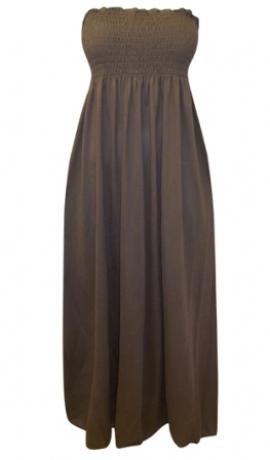 3-0200 Mokas krāsas maxi kleita/svārki