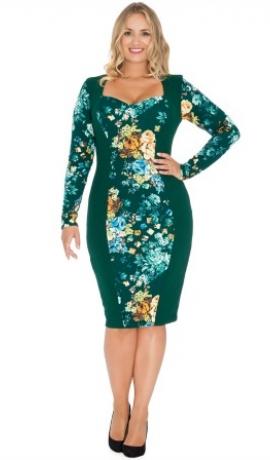 3-0362 Smaragda & puķaina kleita