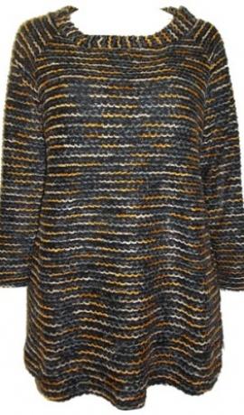 2-0165 Melns & oranžs džemperis