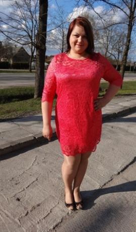 3-0274 Rozā mežģīņu kleita