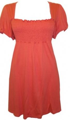 1-0382 Oranža tūnika ar īsām rokām