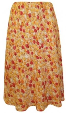 4-0087 Oranži rakstaini svārki
