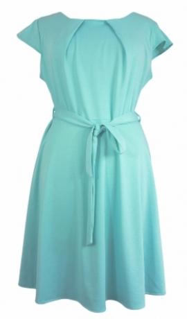 3-0167 Gaiša elektrozila kleita ar jostiņu
