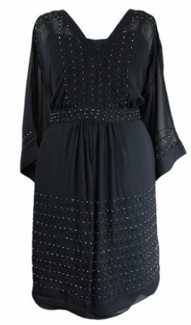 3-0083 Melna kleita ar dekoriņiem
