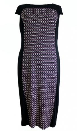 3-0207 Purpurkrāsas kleita ar melniem sāniem