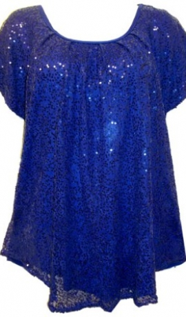 1-0377 Zils svētku topiņš ar spīdulīšiem
