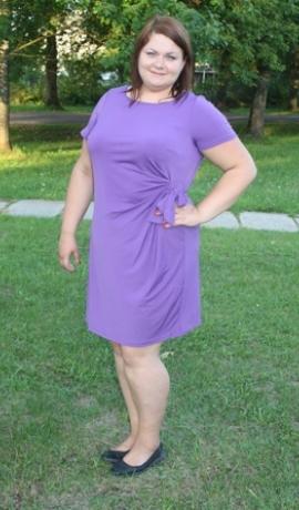 3-0330 Violeta kleita ar savilkumu un jostiņu