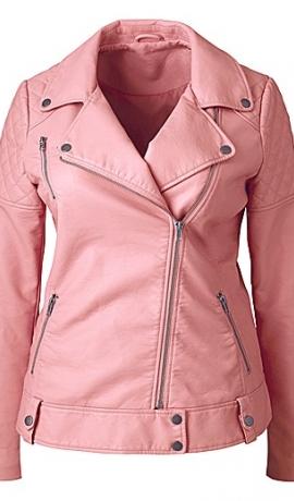 6-0179 Rozā ādas imitācijas jaka