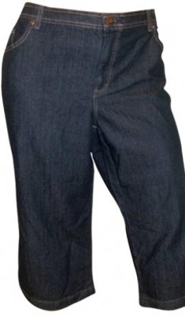 5-0157 Tumši zili pusgaras džinsu bikses