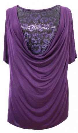 1-0591 Violets tops ar dekoratīviem spīdumiem