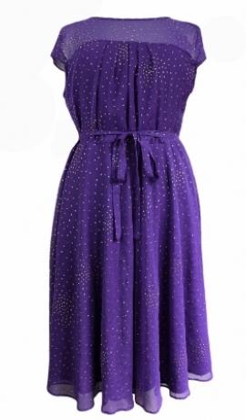 3-0097 Violeta kleita ar spīdumiņiem