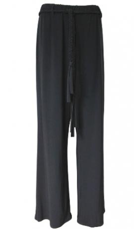 5-0210 Melnas bikses ar jostiņu