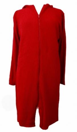 2-0190 Sarkana gara jaka ar kapuci