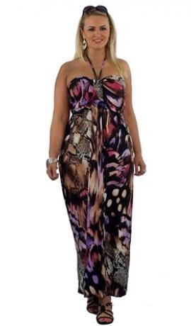 3-0020 Rakstaina kleita ar smalku kakla lencīti